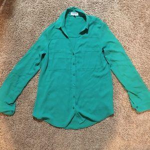 Kelly green dress shirt